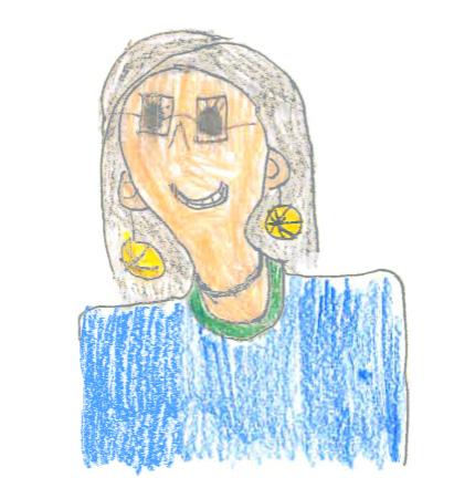 Rita Siffling als Kinderzeichnung